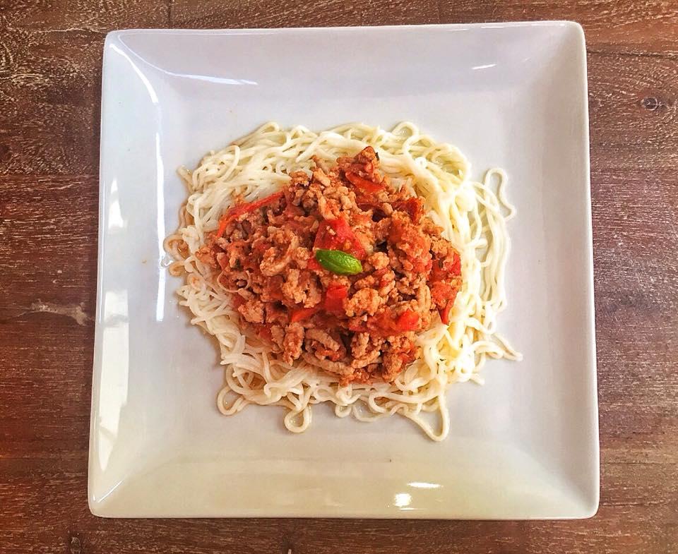 Italian Shirataki Bolognese with Ground Turkey Recipe