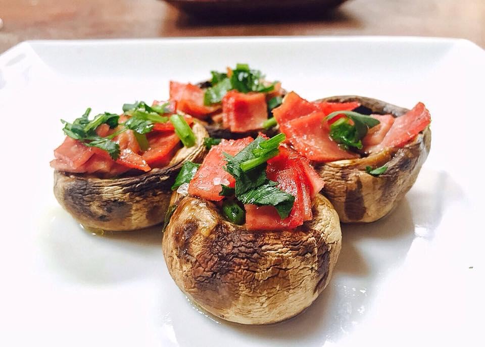 Spanish Turkey Bacon Stuffed Mushroom Tapas Recipe