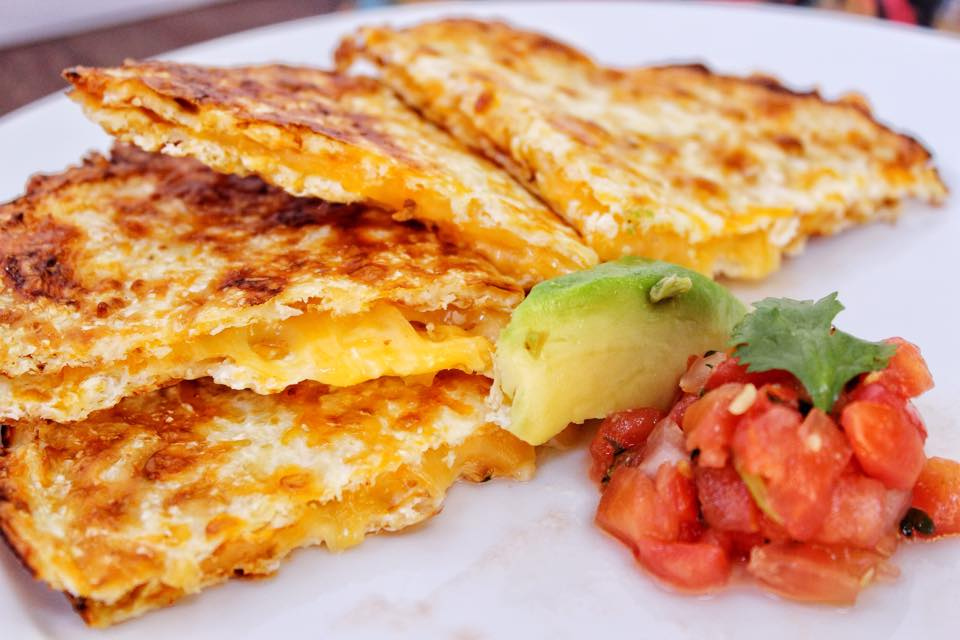 Mexican Cheese Quesadilla with Salsa Recipe