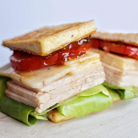 Savory Post-Thanksgiving Breadless Sandwich (Low Carb)