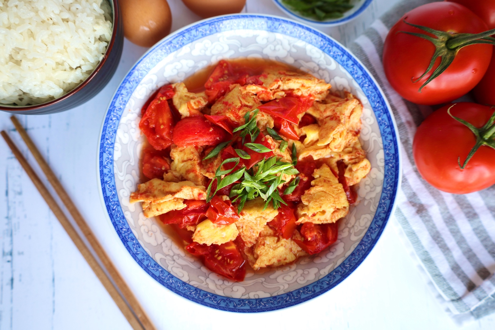 Chinese Egg and Tomato Stir Fry